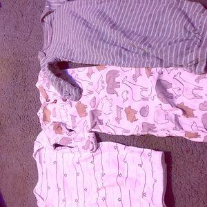 Set of 3 baby sleep gowns